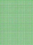 5 x A4 Green Gingham Card Stock, Size:- Small - GING2
